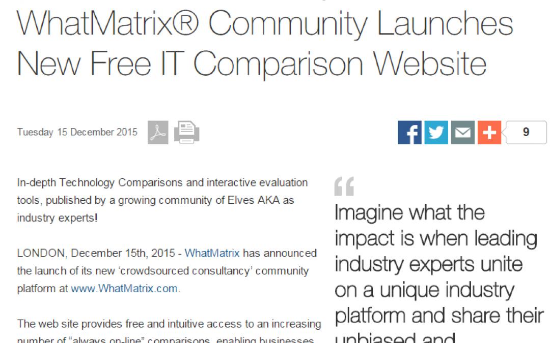 WhatMatrix Updates – What's new, Press Release & links