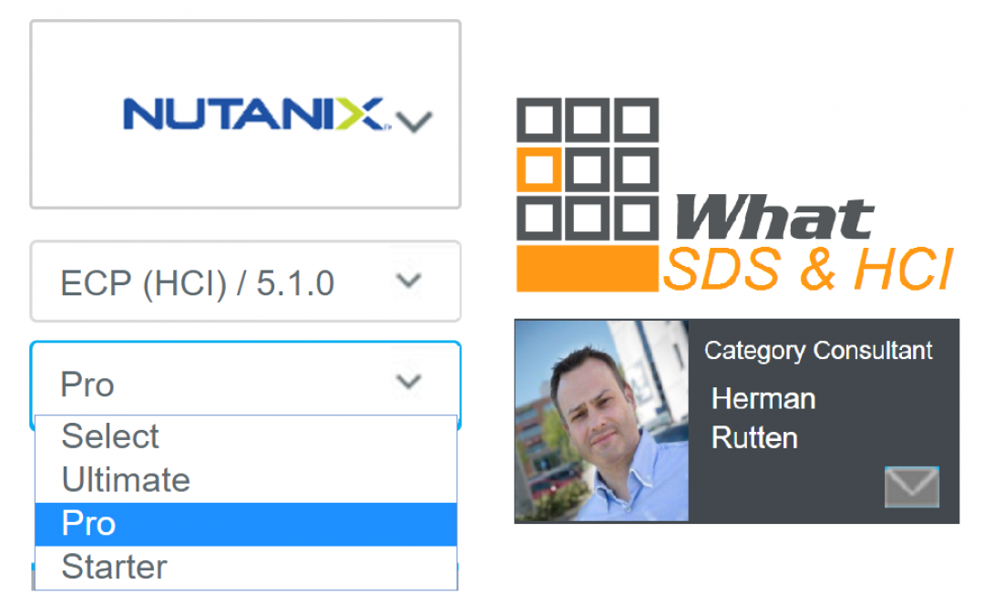 """SDS & Hyper-Converged"" Comparison updated with Nutanix AOS 5.1"
