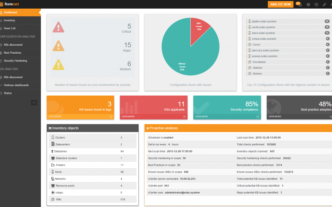 A closer look at Runecast Analyzer