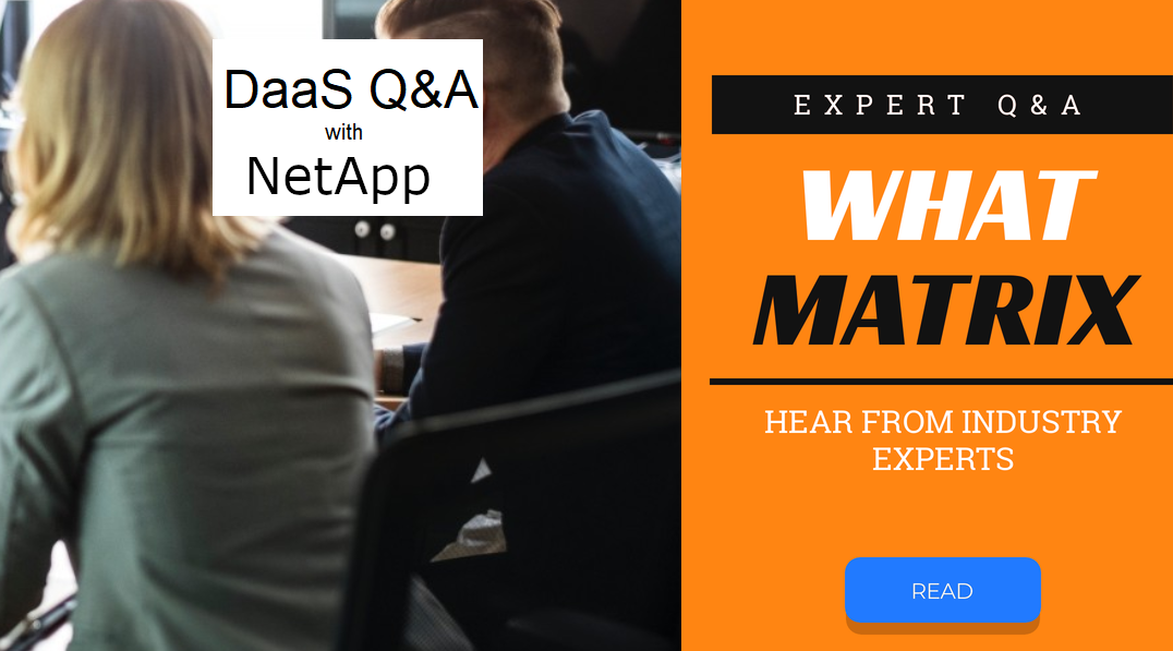 WhatMatrix QA with NetApp – Virtual Desktop, DaaS, VDI and WVD